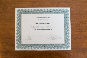 Certificates & Courses - Freedom Investment Club - Tax Liens & Tax Deeds