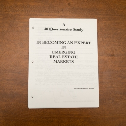 Commercial Property - 40 Questionairre Study