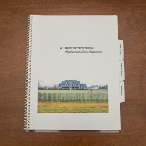 Wilhome Professional Home Inspection Report Booklet